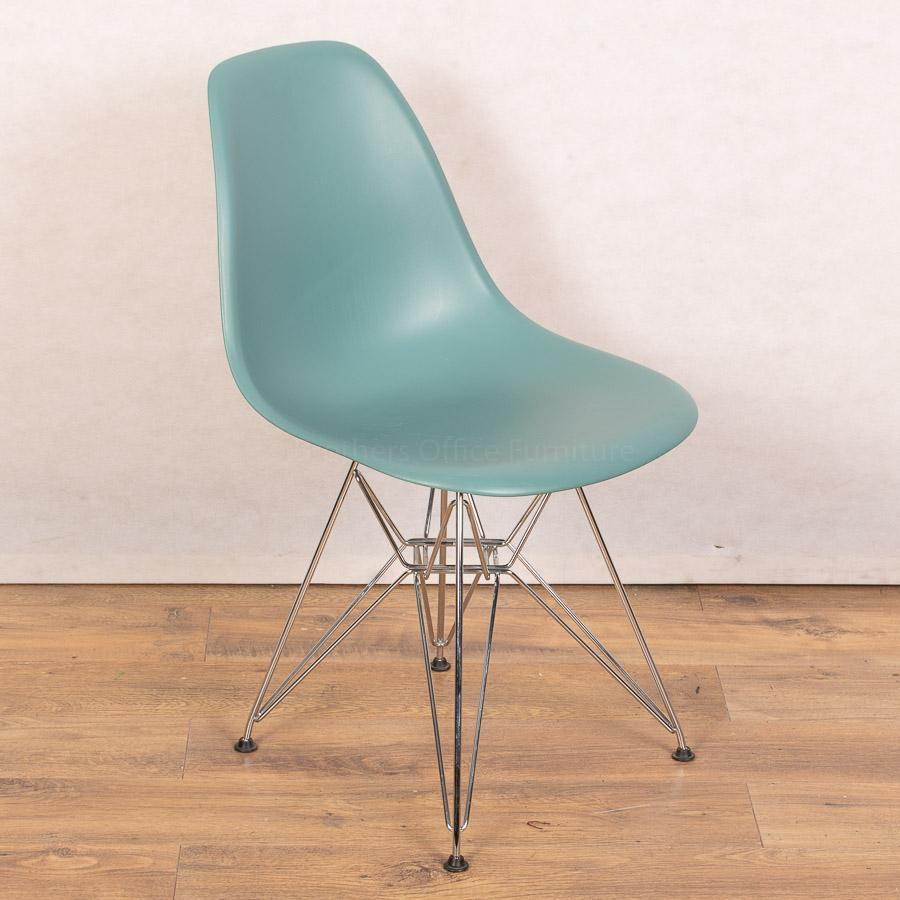 Vitra DSR Turquoise Chair | Wire Base