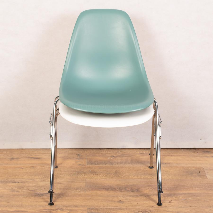 Vitra DSR Turquoise Chair | Four Legged Stackable