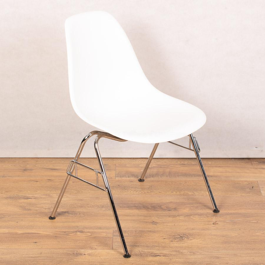 Vitra DSR White Chair | Four Legged Stackable