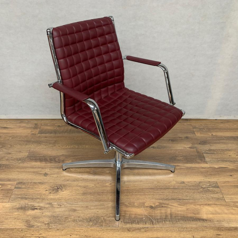 Sitland Vega S Red Leather Meeting Chair