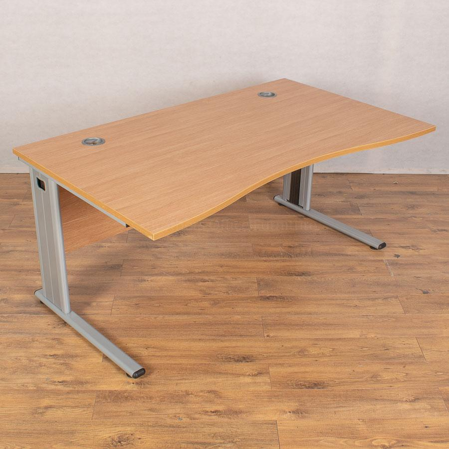 Light Oak 1600 Double Wave Desk
