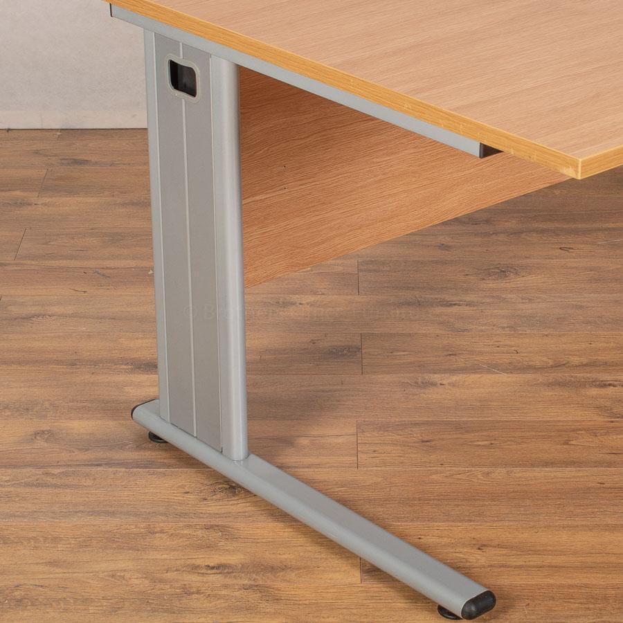 Light Oak 1600 Double Wave Desk