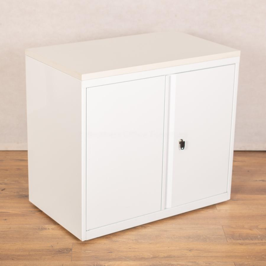 Herman Miller White Desk High Office Cupboard