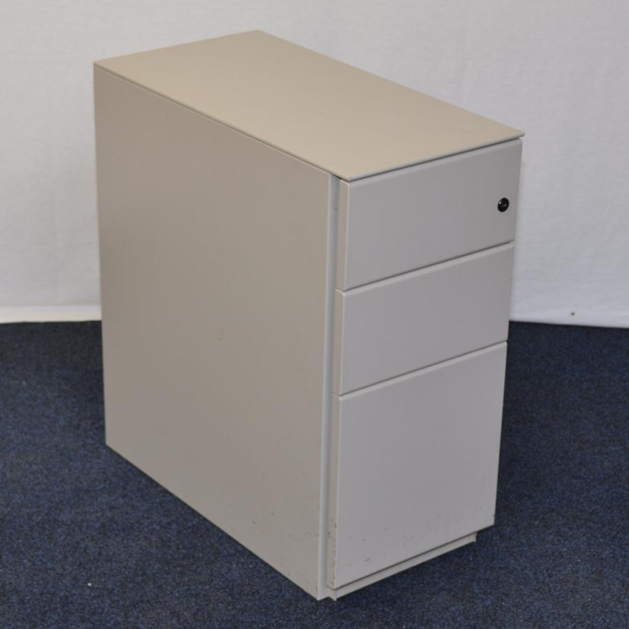 Light Grey Slimline Under Desk Pedestal