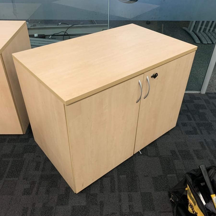 Maple Desk High Office Cupboard (2DC184)