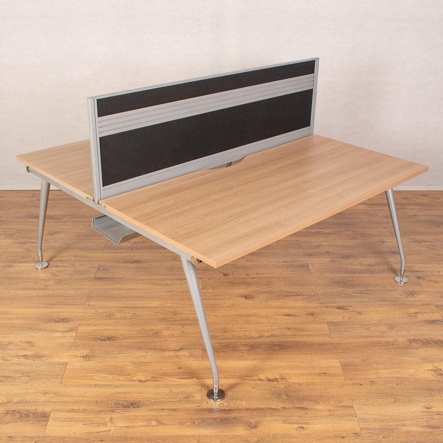 Mobili Vega Romana 1600 Bench Desks - 480H Screen