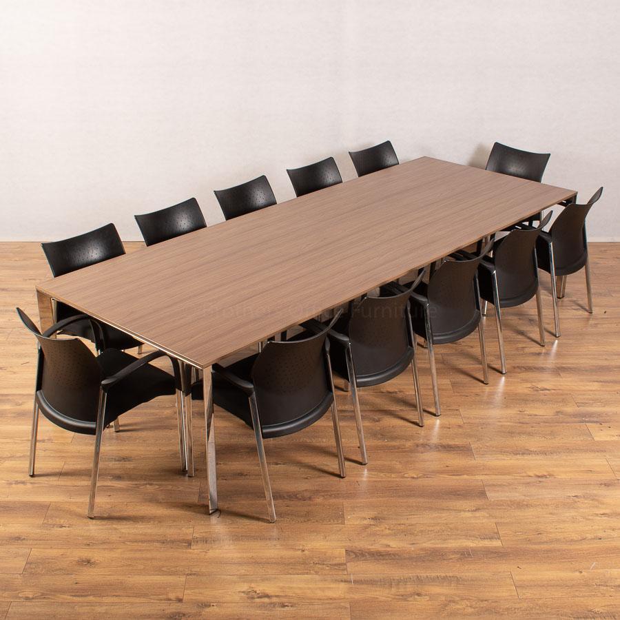 Walnut 3200x1200 Boardroom Table