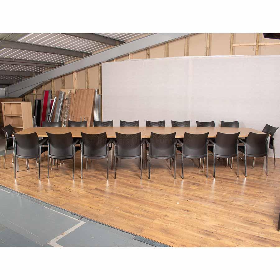 Sven Natural Oak 5000x1200 Boardroom Table