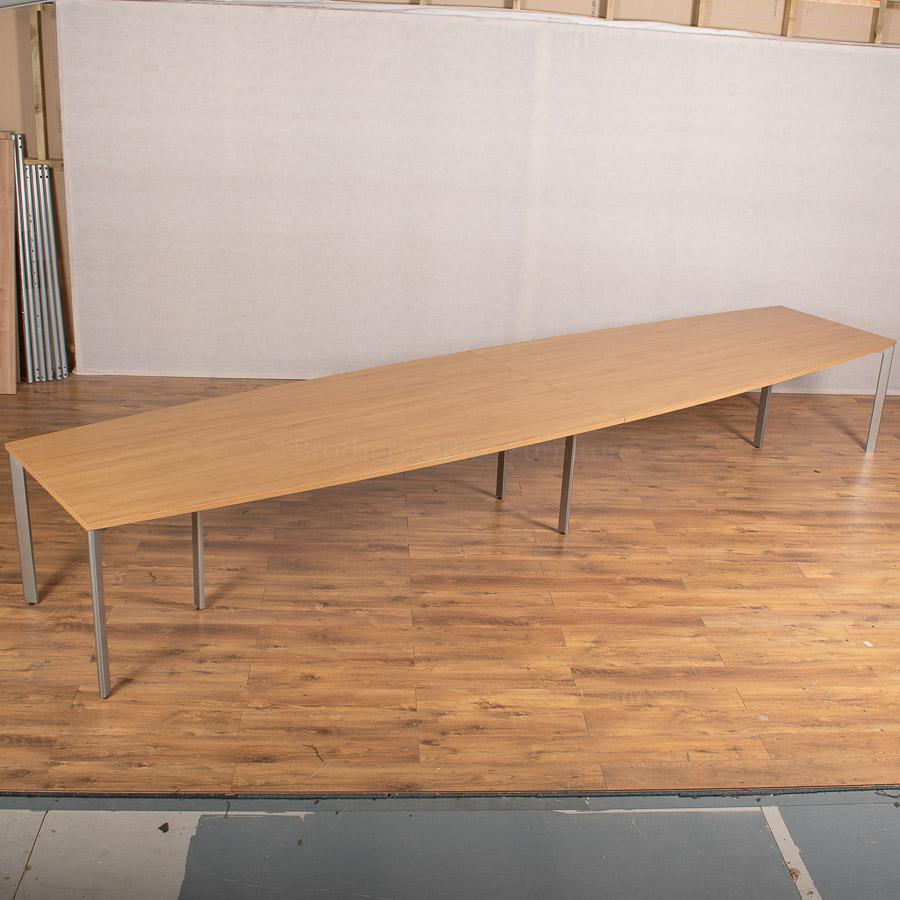 Sven Natural Oak 5000x1200 Boardroom Table