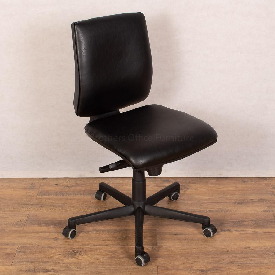 Square Back Office Chair | Leather