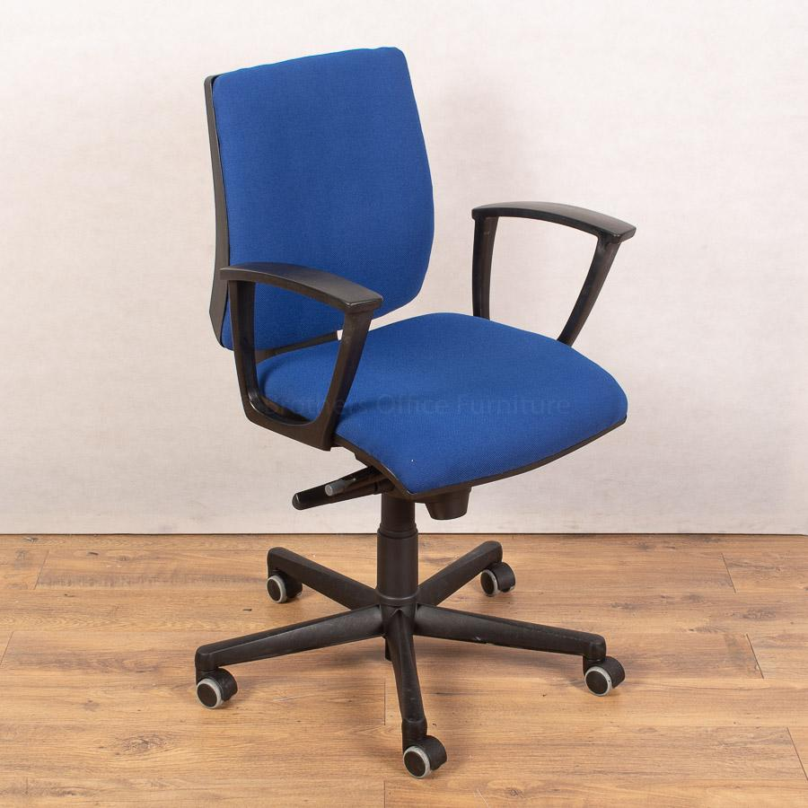 Square Back Office Chair | Fixed Arms
