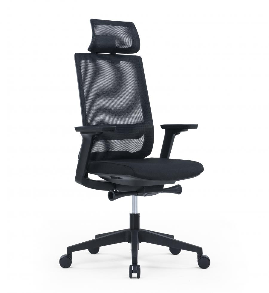 Venture Mesh Back Operators Chair - Black Frame