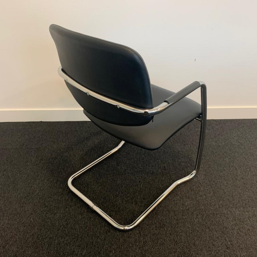Narbutas Faux Leather Stackable Meeting Chair
