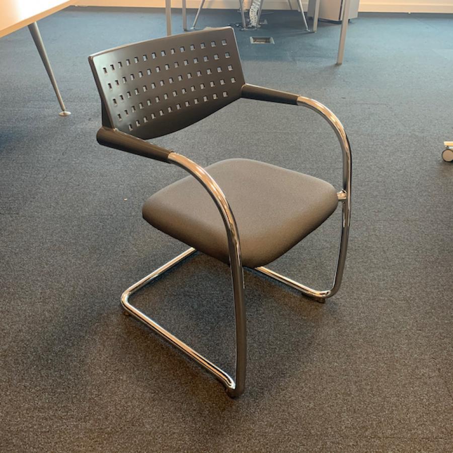 Vitra Vis-a-Vis Chrome Frame Meeting Chair