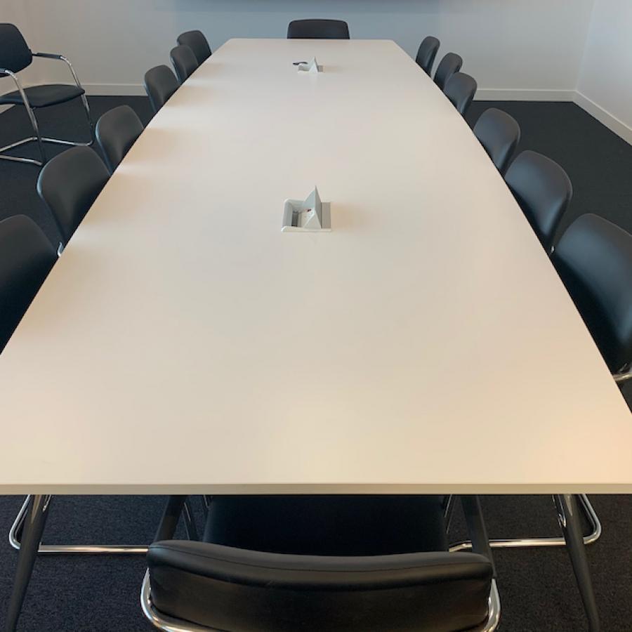 White 4400x1400 Boardroom Table