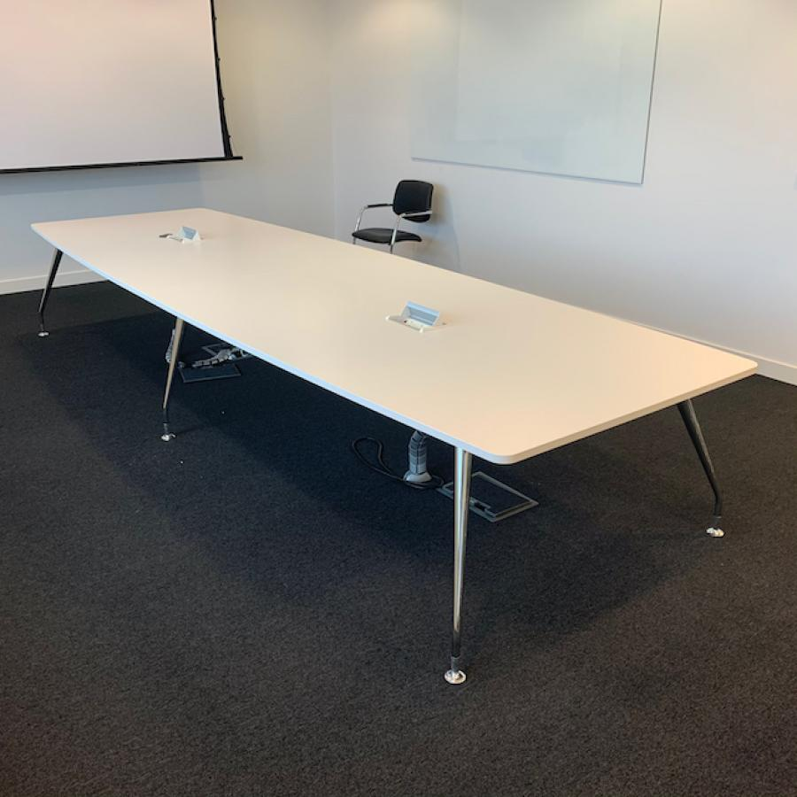 White 4400x1400 Boardroom Table