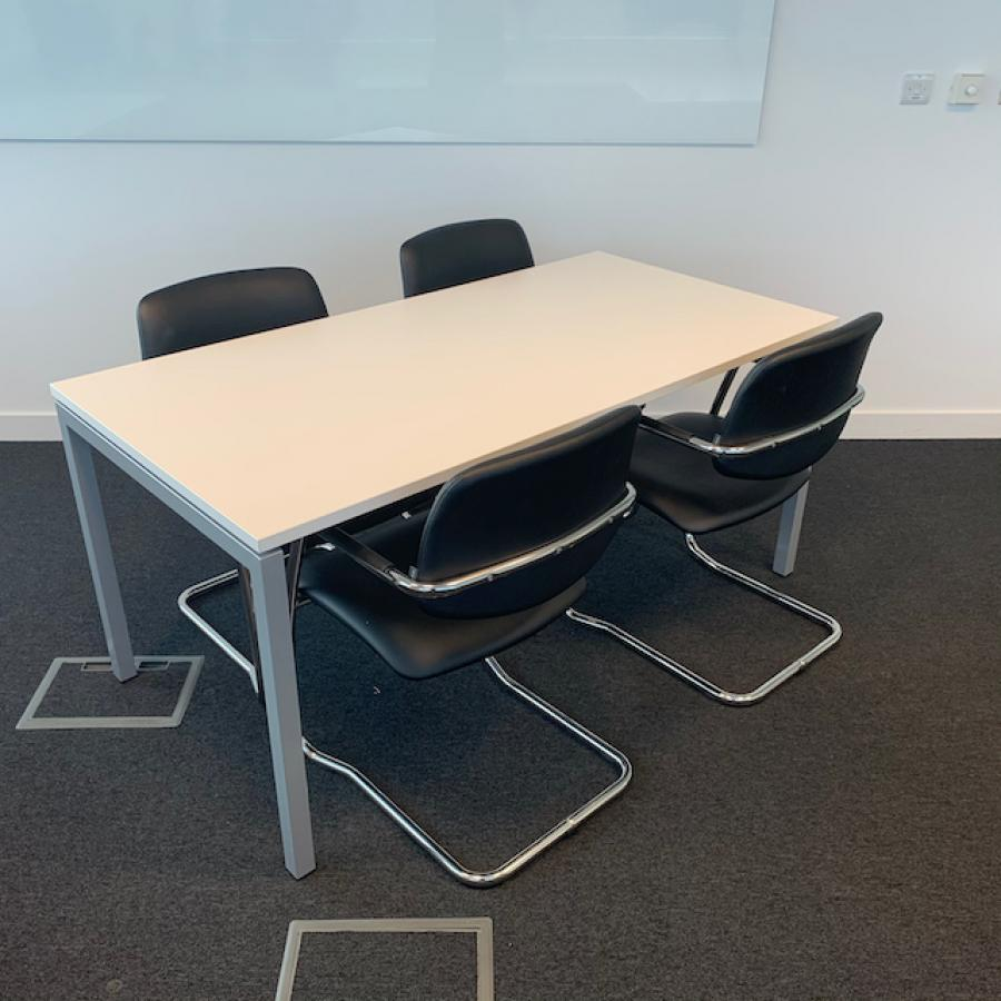 Narbutas Nova U White 1600x800 Meeting Table