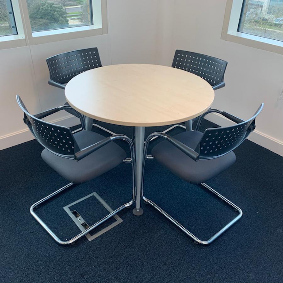 Herman Miller Abak Maple 1000D Round Table