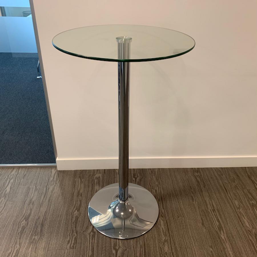 Glass 1055H x 600D Poseur Table