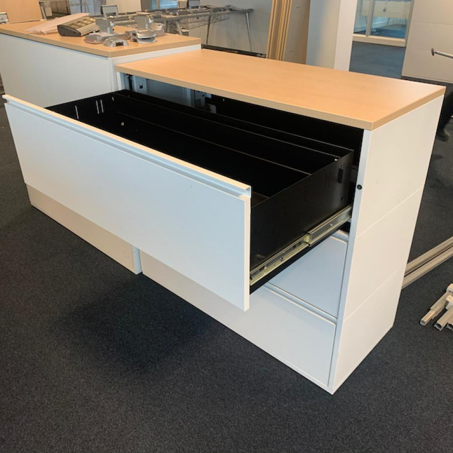 White Steel 3 Drawer Lateral Filing Cabinet (FC113)