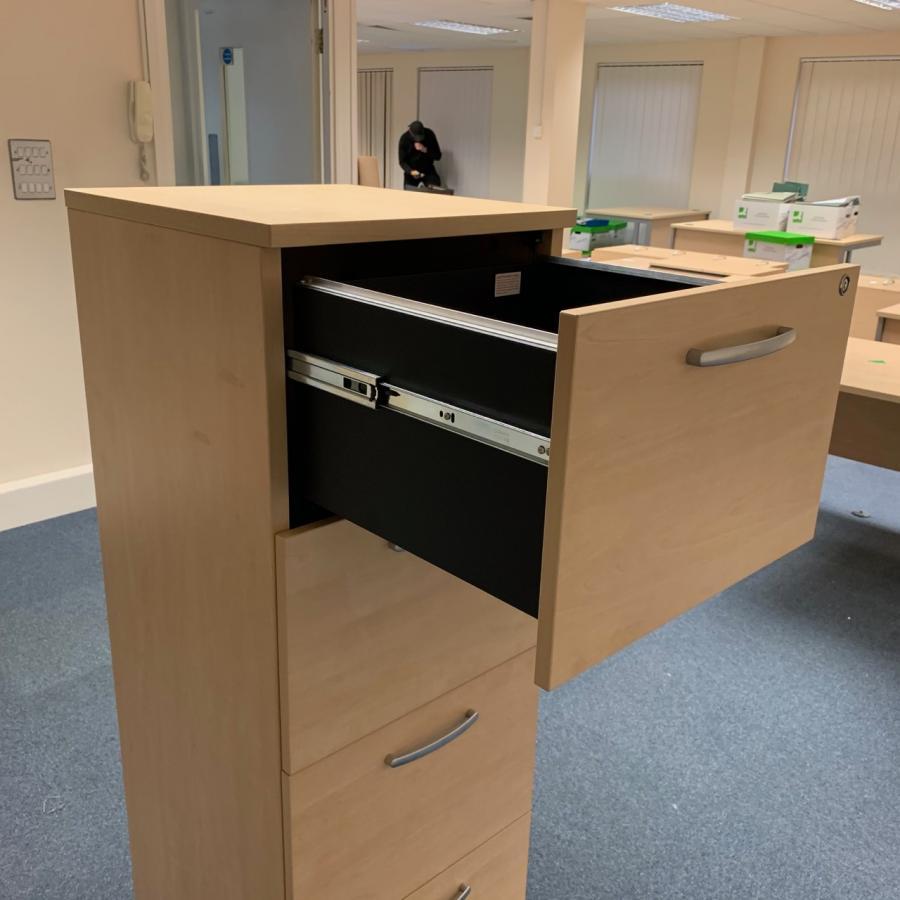 Sven Maple 4 Drawer Filing Cabinet