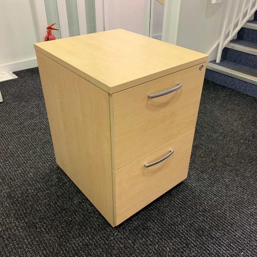 Sven Maple 2 Drawer Filing Cabinet
