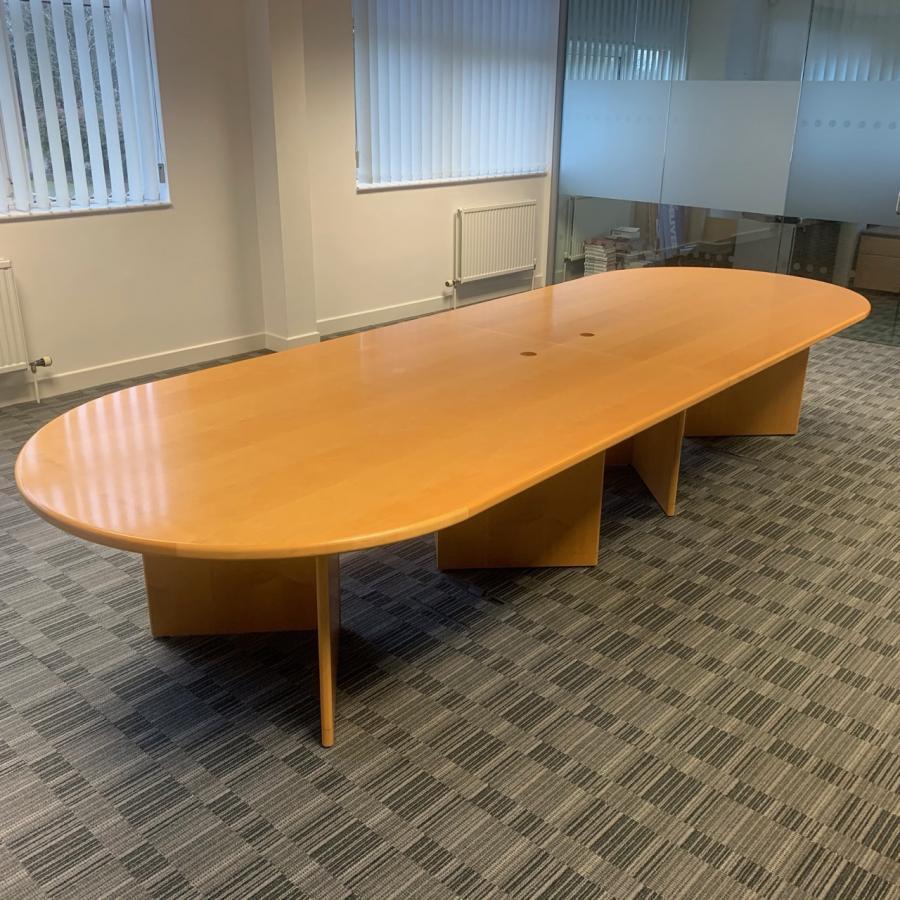 Maple Veneer 4160x1425 Boardroom Table