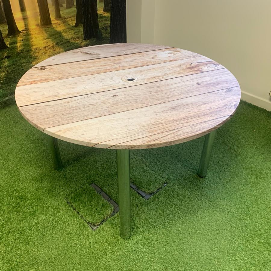 Vinyl Wrapped 1200D Round Office Table