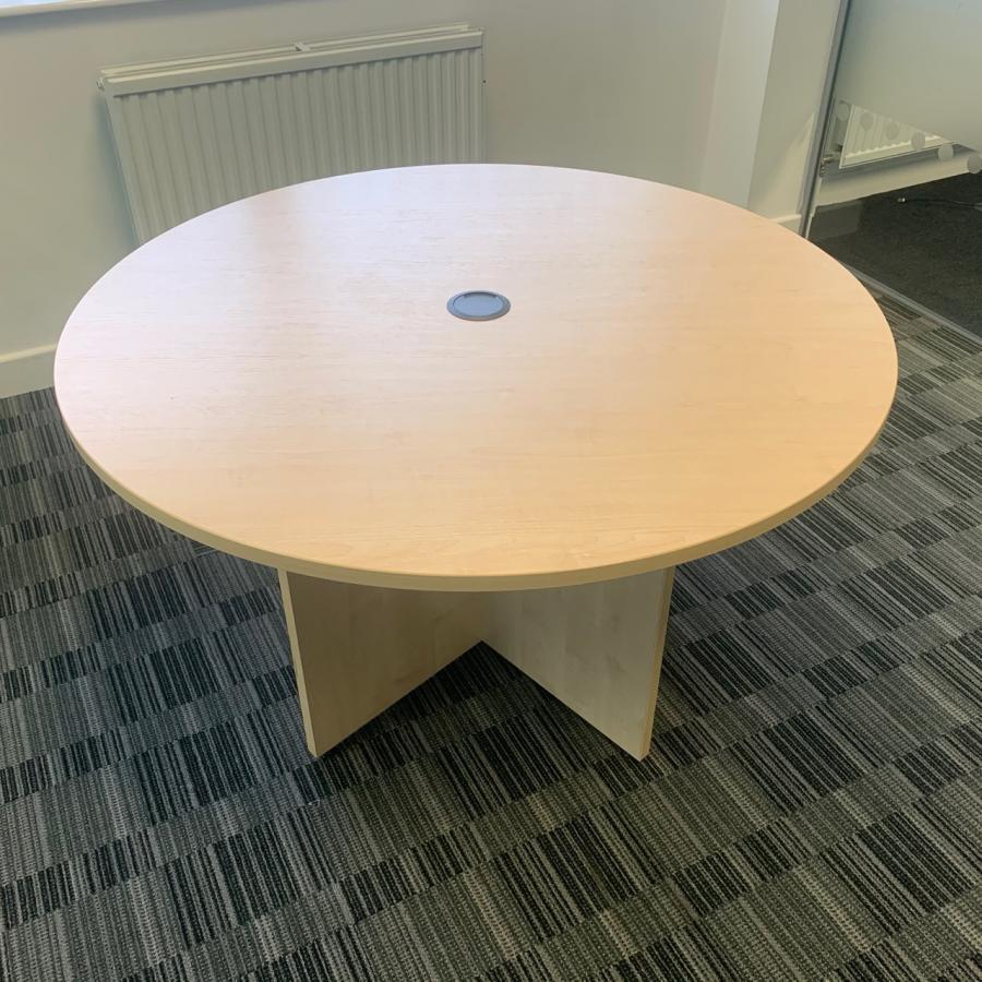 Maple 1200D Round Office Table (MT291)