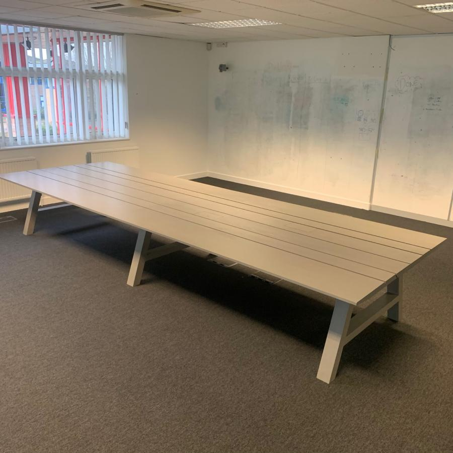 Chalk Grey 4800x1620 Boardroom Table