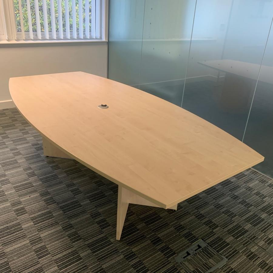 Maple 2400x1200 Barrel Shape Meeting Table