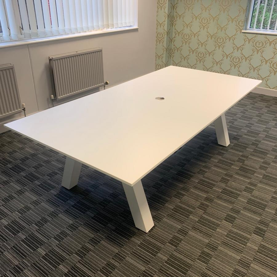 White 2400x1200 Meeting Table