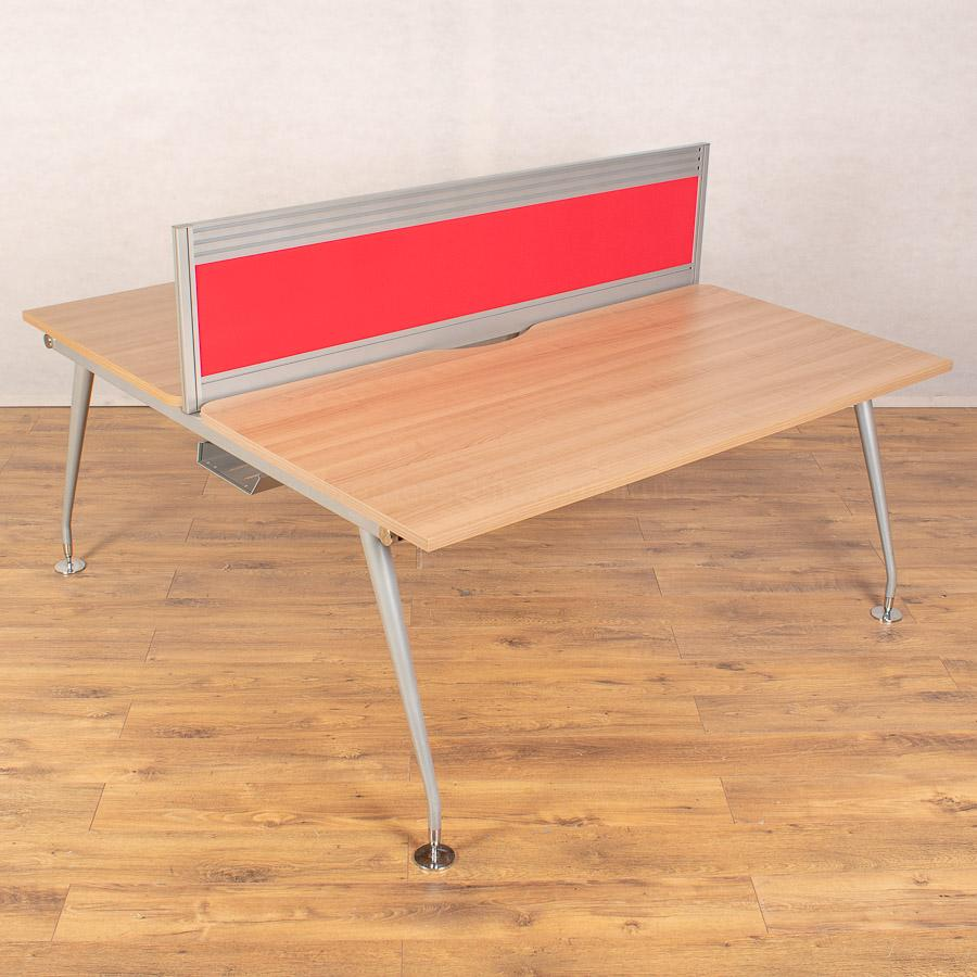 Mobili Vega Romana 1600 Bench Desks - 380H Screen