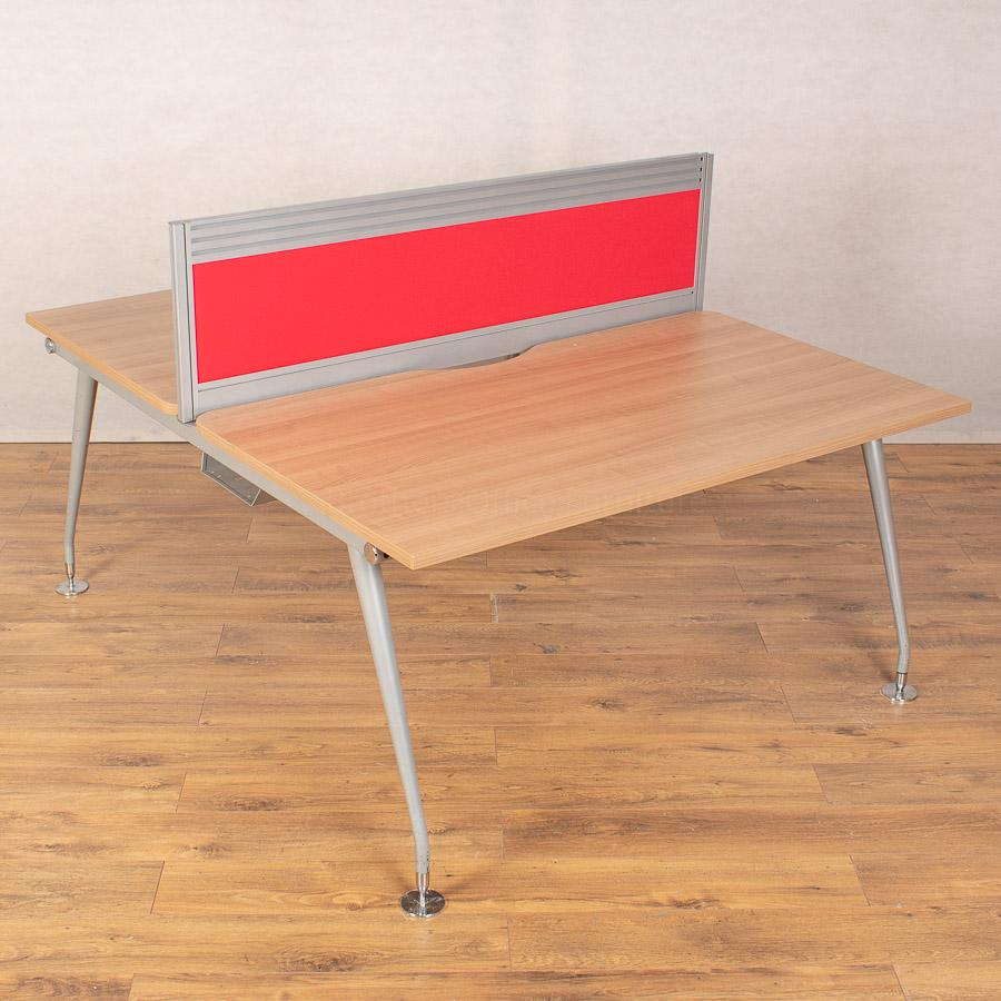 Mobili Vega Romana 1400 Bench Desks - 380H Screen