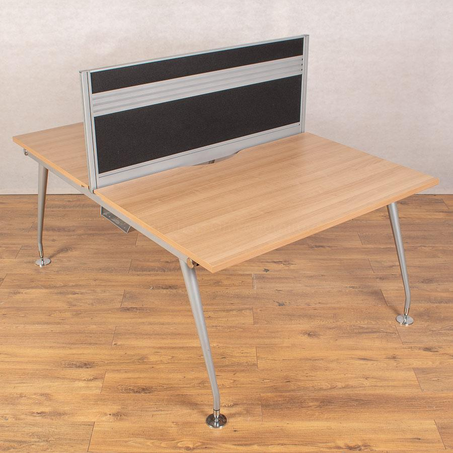 Mobili Vega Romana 1200 Bench Desks - 480H Screen