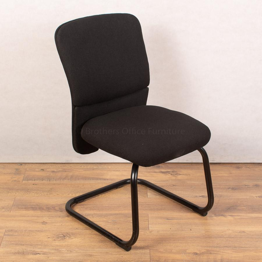 Black Cantilever Meeting Chair (MC250)