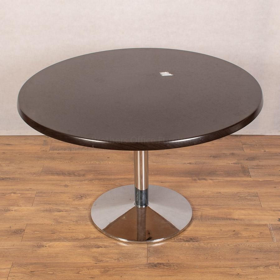 Darkwood 1200D Round Cafe/Office Table
