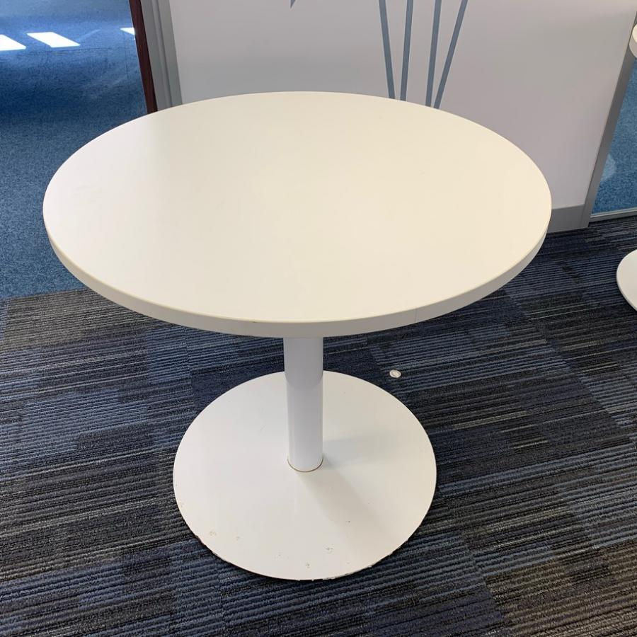 White 800D Round Office Table (MT312)
