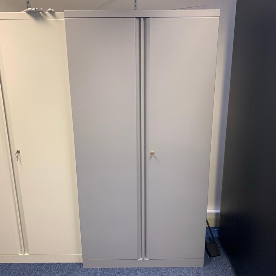 Silver 1810H Steel Storage Cupboard (2DC191)
