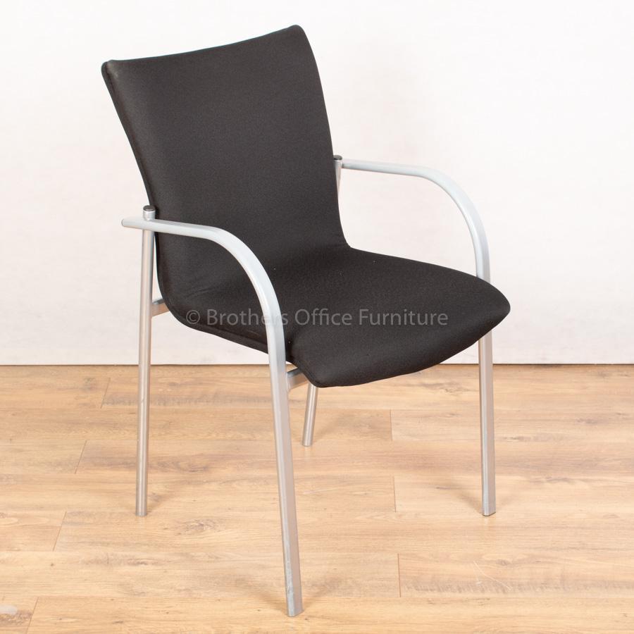 Black Stackable Meeting Chair | Grey