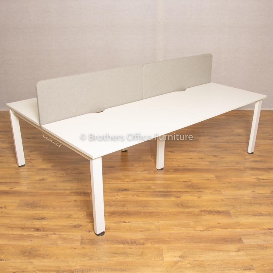 Senator Freeway White 1200 Bench Desks