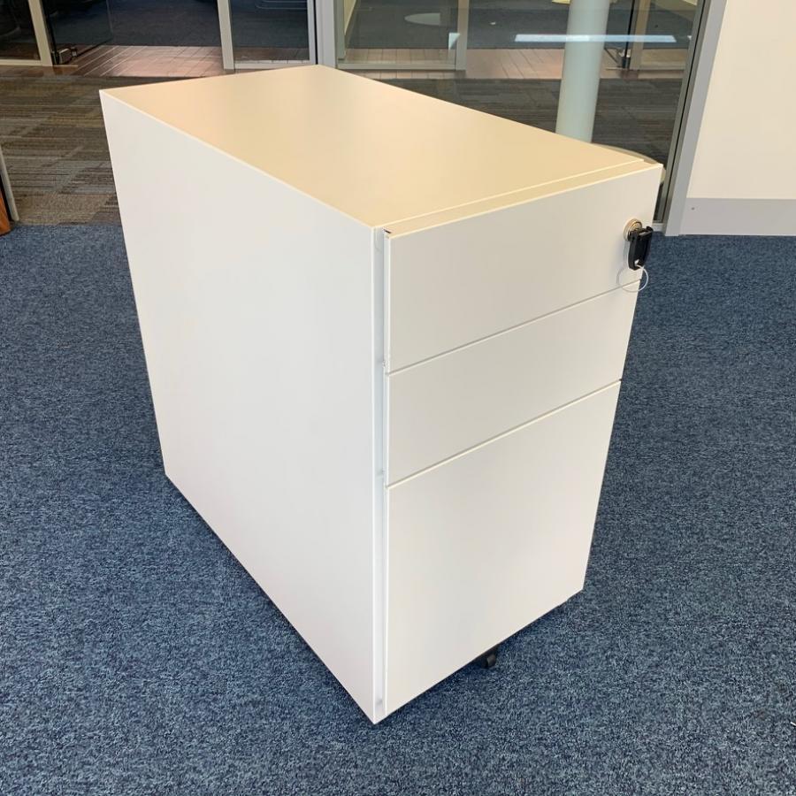 White Steel Slimline Office Pedestal (PED162)