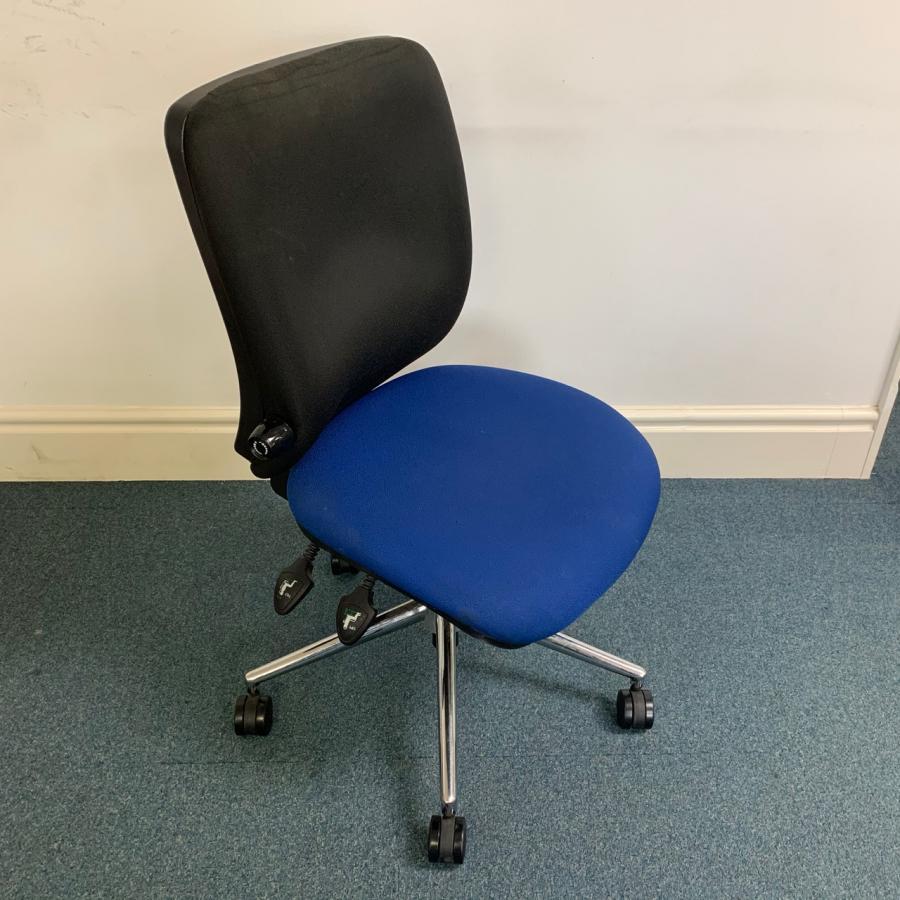 Black/Blue Adjustable Operators Office Chair