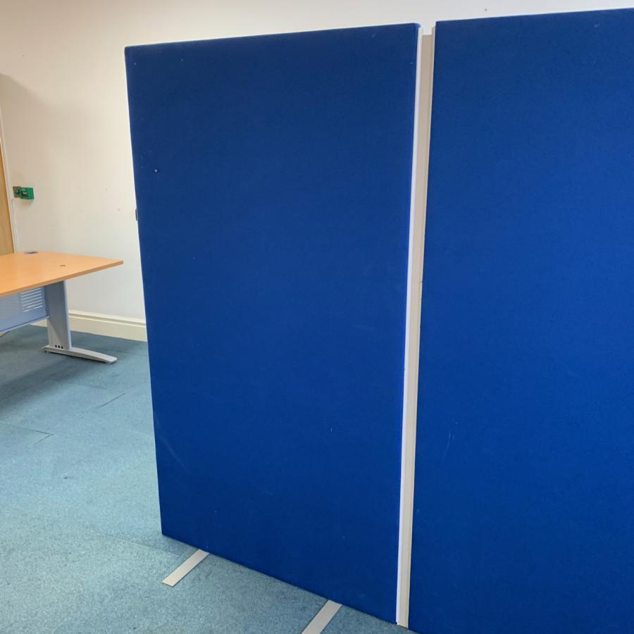 Blue 1800H x 1000W Room Dividing Screen