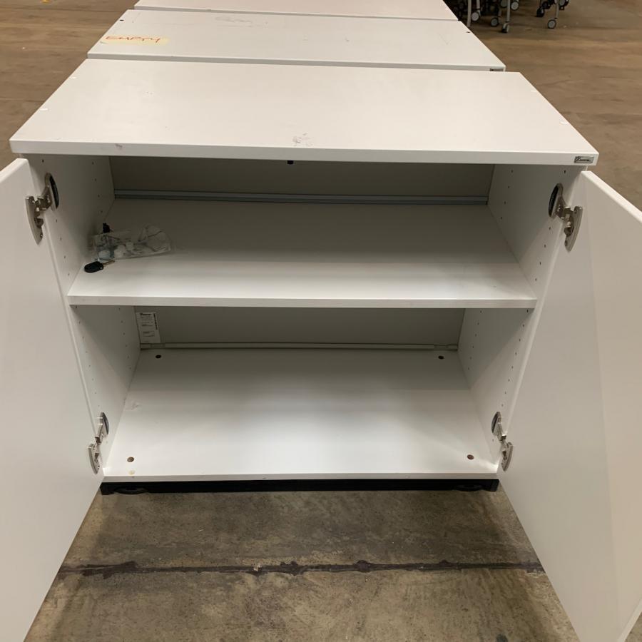Kinnarps White 725H x 800W x 400D Office Cupboard