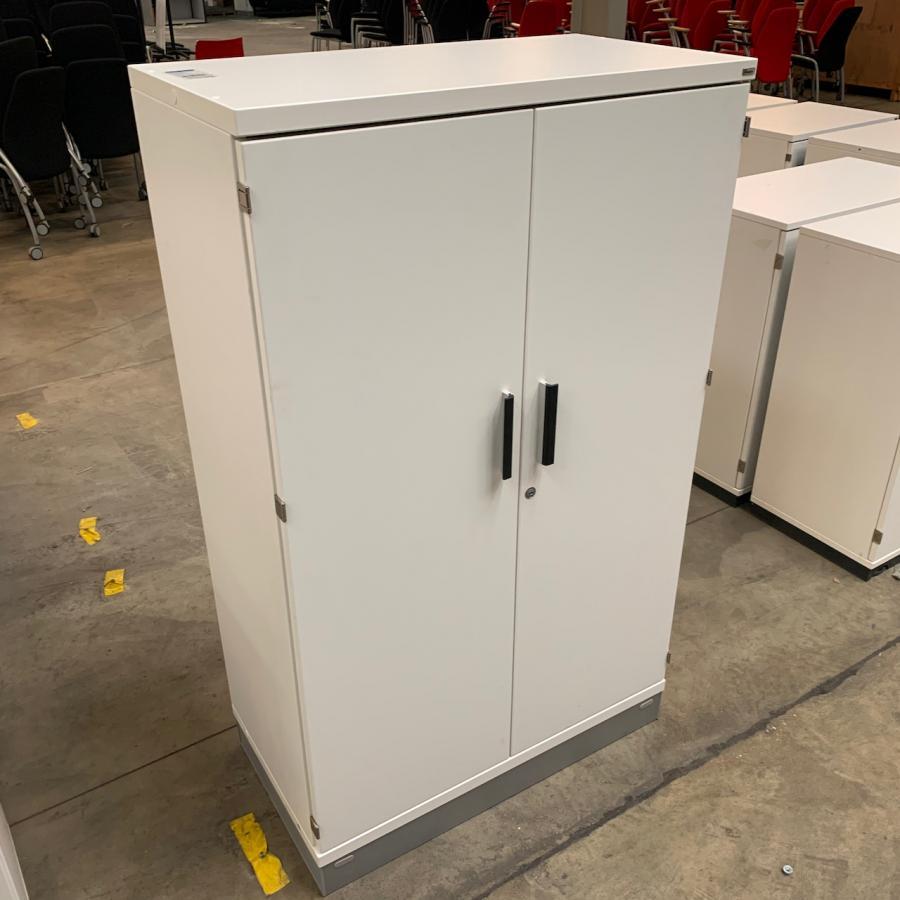 Kinnarps White 1335H x 800W x 425D Office Cupboard