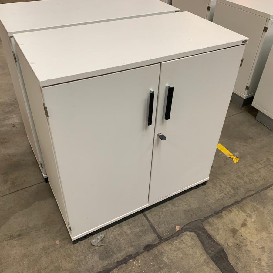 Kinnarps White 850H x 800W x 400D Office Cupboard