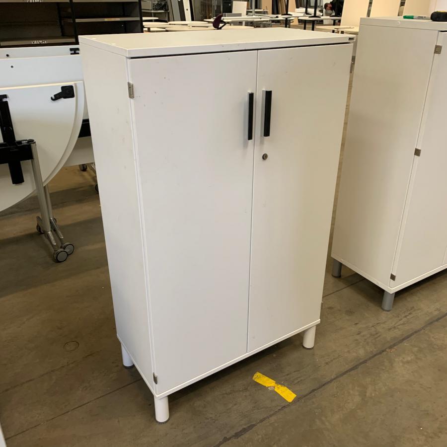 Kinnarps White 1345H x 800W x 400D Office Cupboard