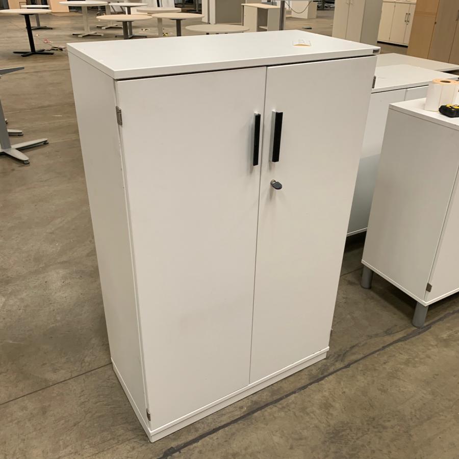 Kinnarps White 1250H x 800W x 400D Office Cupboard