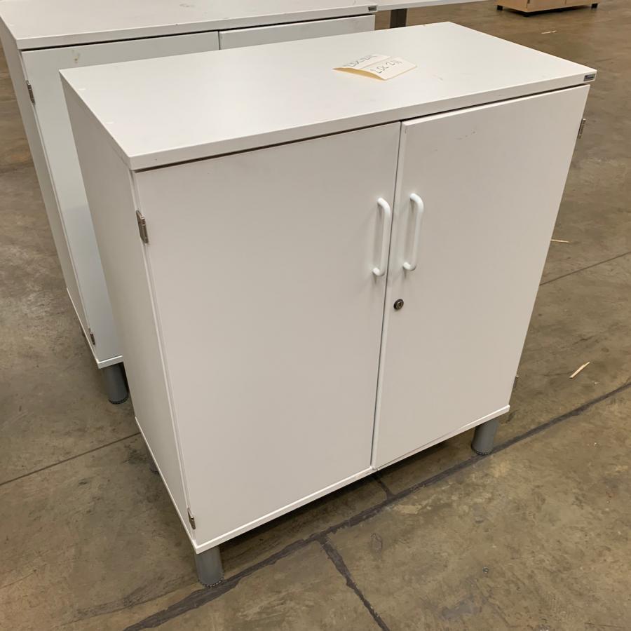 Kinnarps White 950H x 800W x 400D Office Cupboard